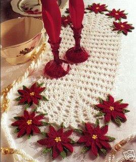 Coisas da Vovó: Lindos caminhos de mesa em crochê