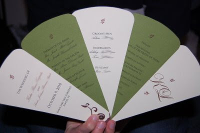 dollar budget wedding diy how to make a fan wedding ceremony program