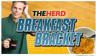 ESPN Colin Cowherd Breakfast Cereal Bracket