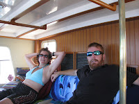 Laura and Cory relaxing after a day of diving
