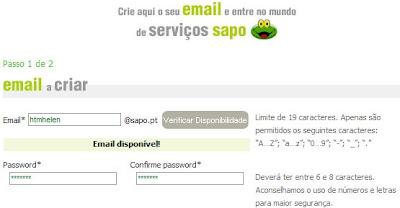 E-mail Sapo 1