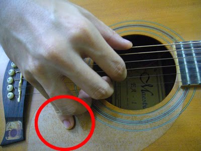 Learning The Basics of Guitar: HOW TO pluck the guitar with your fingers