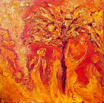 Contemporain abstrait colette grolleau olichon galerie 1 - Tableau couleur chaude ...