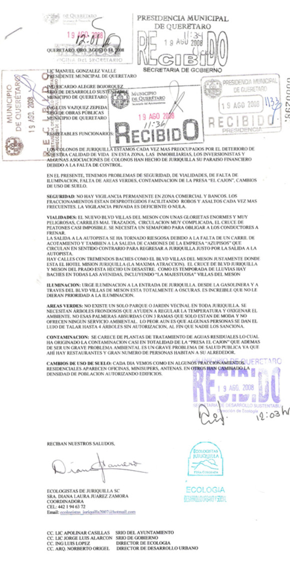 OTRO OFICIO AL PRESIDENTE MPAL