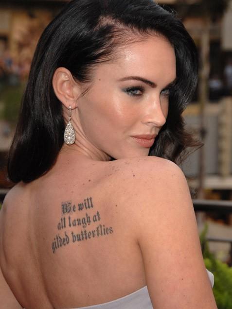 Megan Fox Tattoo Styles
