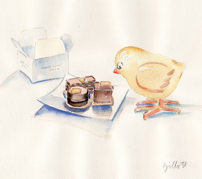 #121 Yellow Bird inspects PH chocolates