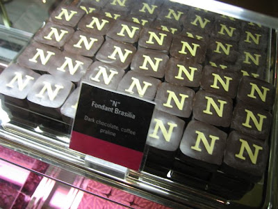 Banks of Fauchon chocolates