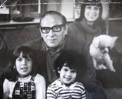 Pumpkin and me, my dad and nieces, Anabel and Louisa