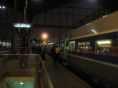Departure from Gare du lyon