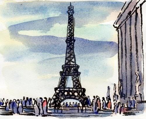 Steps To Eiffel Tower Top : Paris breakfasts eiffel tower homage