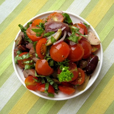 tomato olive basil salad