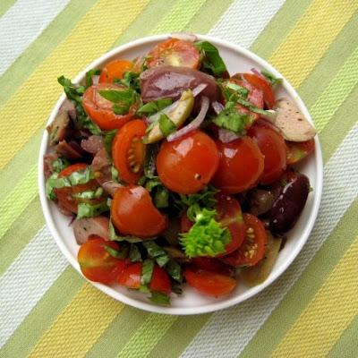 tomato olive basil salad
