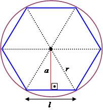 Achar a razão do apótema para o lado do hexágono regular Untitled-3(27)