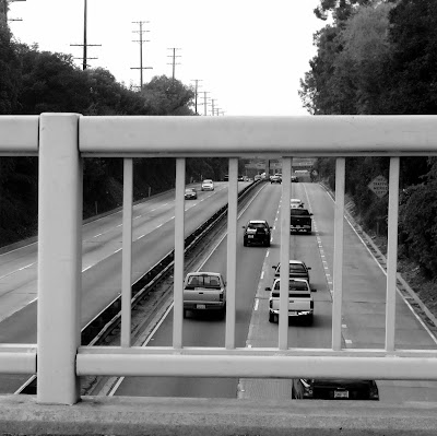 pasadena+freeway+overpass+black+and+white History carved in ... asphalt  photo