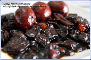 Pork Belly Braised in Dark Soy Sauce Homecooked Recipe(Tau Yew Bak)