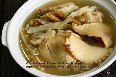 Abalone with chicken home-cooked soup