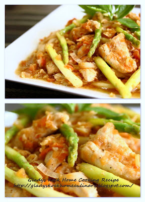 Home-cooked Chicken with Lemongrass and Asparagus