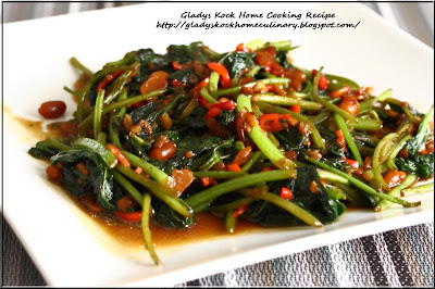 Home-cooked Stir-fried Sweet Potato Leaves with Taucheo