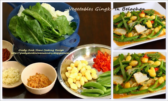 Home-cooked Vegetables Gingko In Belachan
