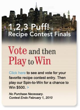 123 Puff Pastry Recipe Spin to Win Game