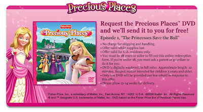 Free Previous Places DVD from Mattel