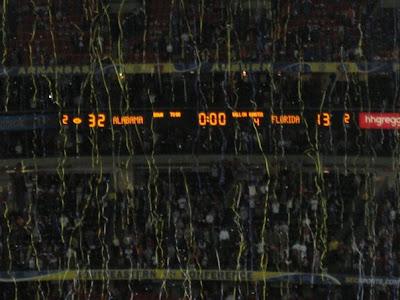 2009 SEC Championship Dr Pepper Sponsored Trip Win - The Final score