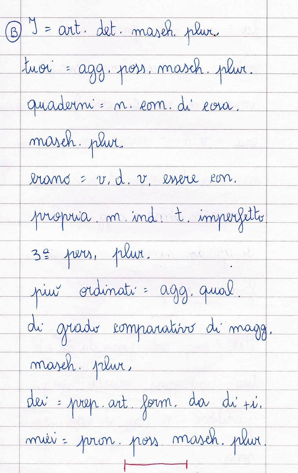 Verifica di analisi grammaticale per la classe quarta della scuola primaria ii quadrimestre - Diversi analisi grammaticale ...