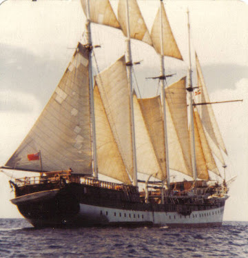 Fantome under sail