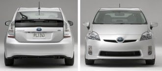 New Prius front and rear views