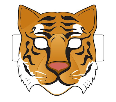 Enterprising image with tiger mask printable