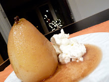 Vin Santo Poached Pear with Softly Whipped Cream
