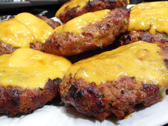 Cheddar Chorizo Burgers