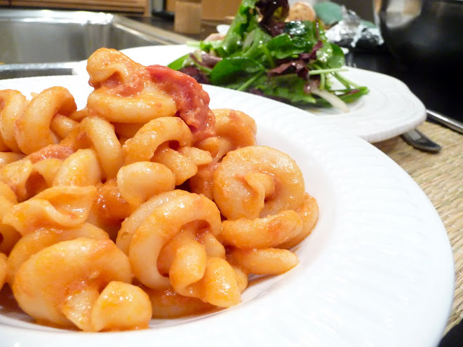 Trottole Pasta with Tomato & Pancetta Cream Sauce