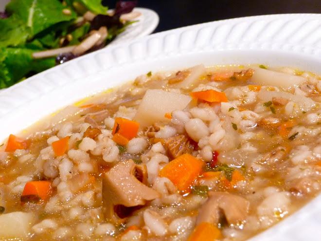 Fresh Chanterelle & Barley Soup