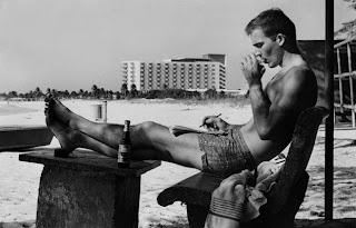 Hunter S. Thompson, autorretrato, Puerto Rico,1960