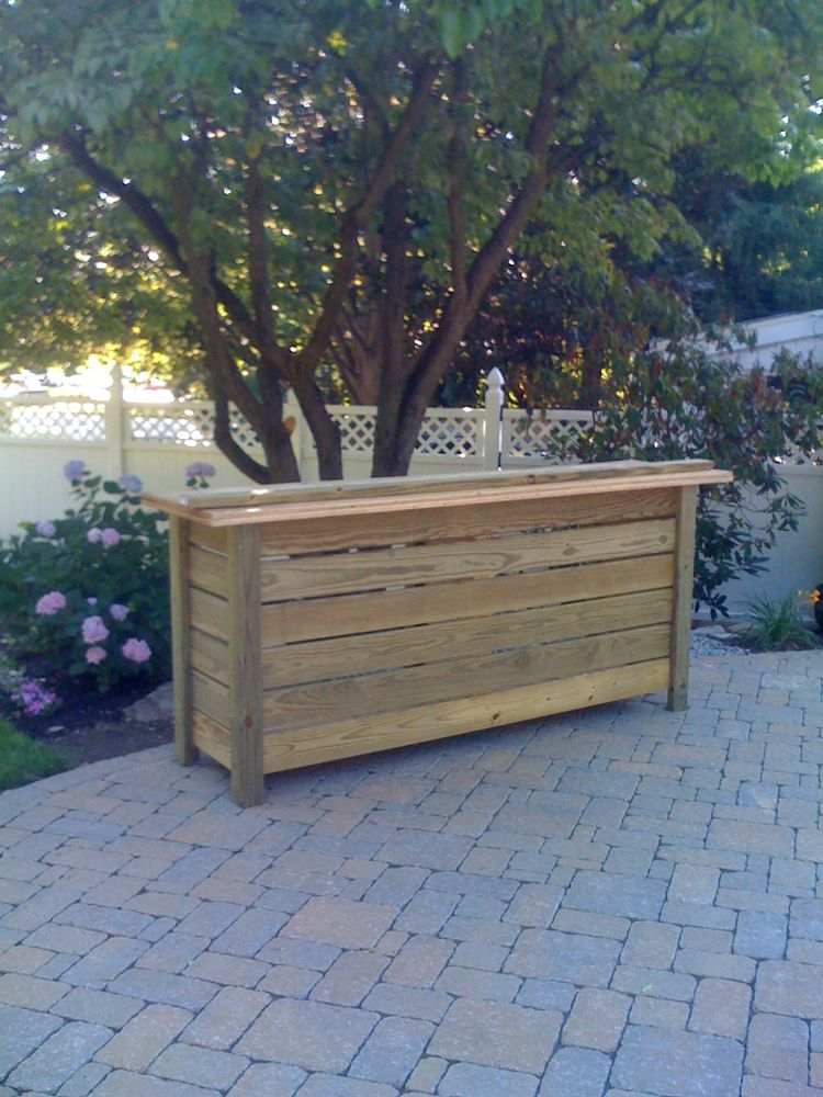 Home mixology for Wood outdoor bar ideas