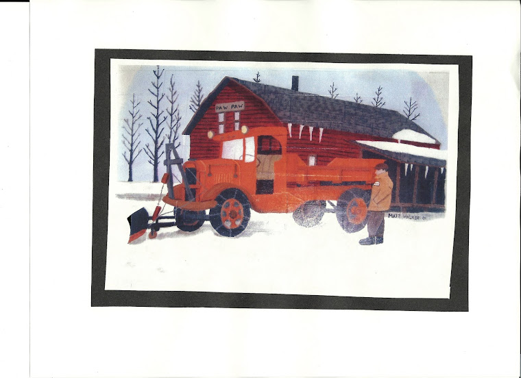 Old MDOT Moline Garage and Plow Truck