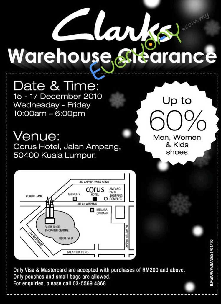 Clark Shoes Warehouse Sales