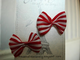 Red and White Striped Bows for Pets - Size Small!