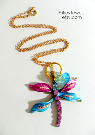 Secret Garden Dragonfly Necklace