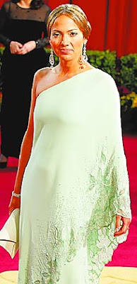 jennifer lopez mint green dress