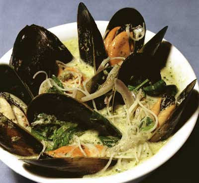 how to cook frozen mussels without shell