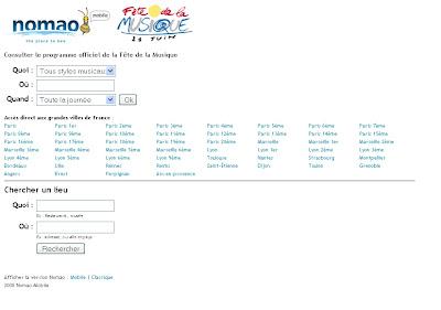 Nomao mobile 'Fête de la musique'