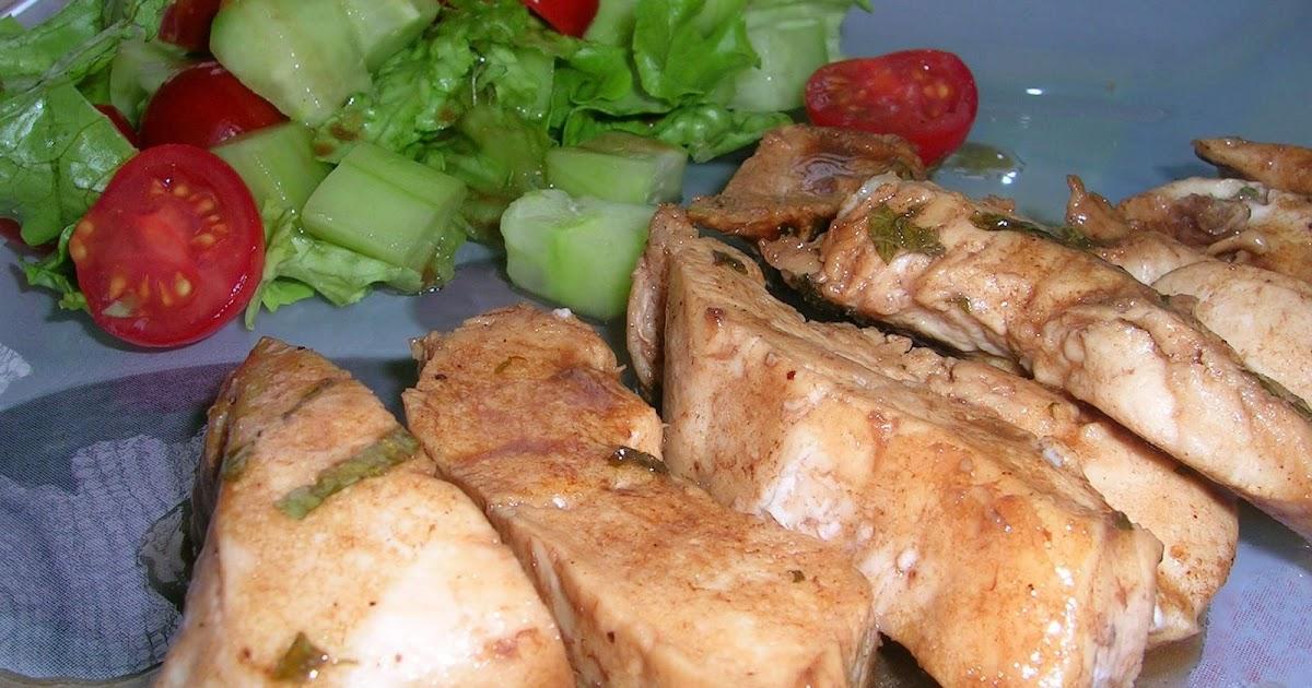 Dey cuisine marinade d 39 escalope de poulet la menthe for Marinade poulet huile d olive