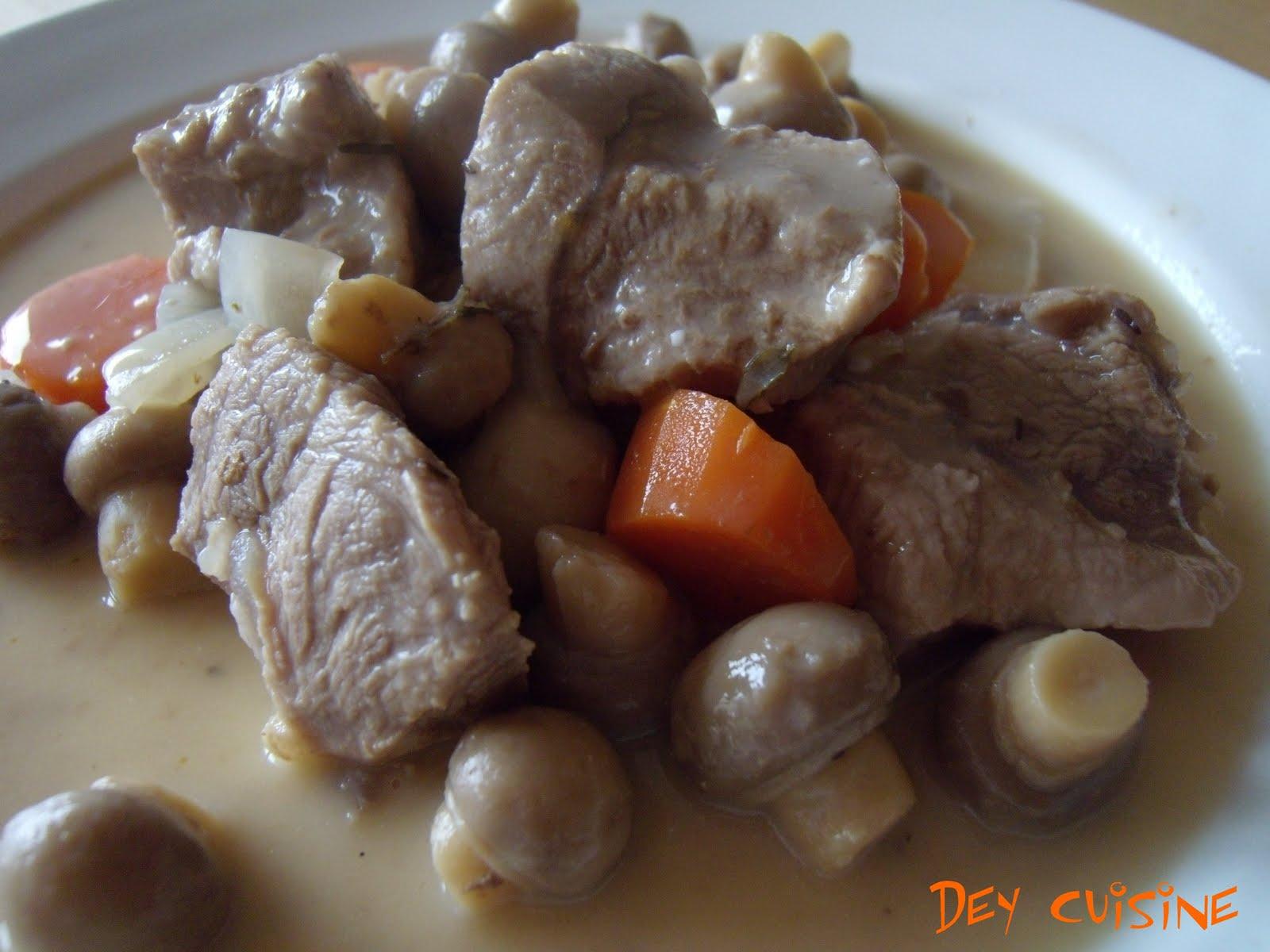 Dey cuisine blanquette de veau - Cuisine blanquette de veau ...