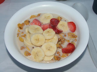 gluten-free granola and fresh fruit