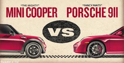 mini vs porsche  Mini Taunts Porsche with new Rocky IV Spoof Video