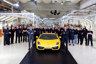 Lambo Lamborghini celebrates Its 10,000th Gallardo