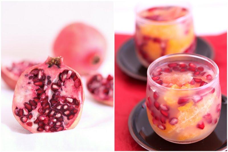 ... . By Chelle.: Grapefruit mandarin pomegranate white tea jelly