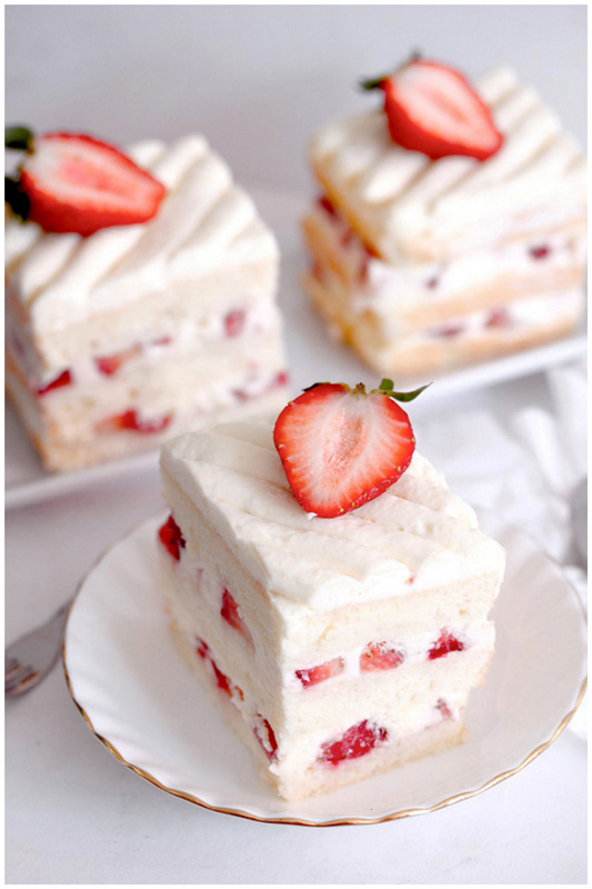 Japanese Strawberry Shortcake Dessert Strawberry shortcake